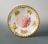 Nick Caiger Smith, (British, 20th century), a good lustre dish,