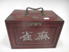 A mah-jongg set, original box