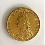 A Victoria 'Jubilee Head' full sovereign,