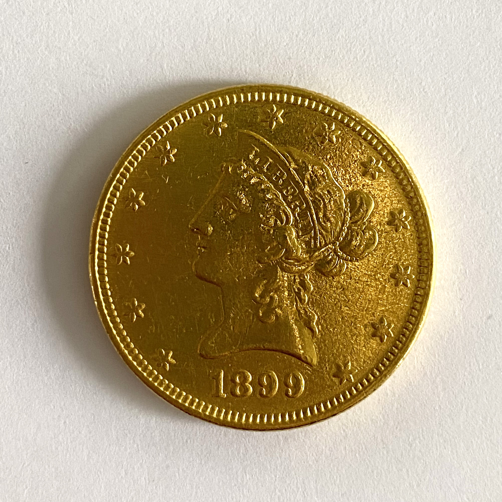 A United States of America $10 coin,