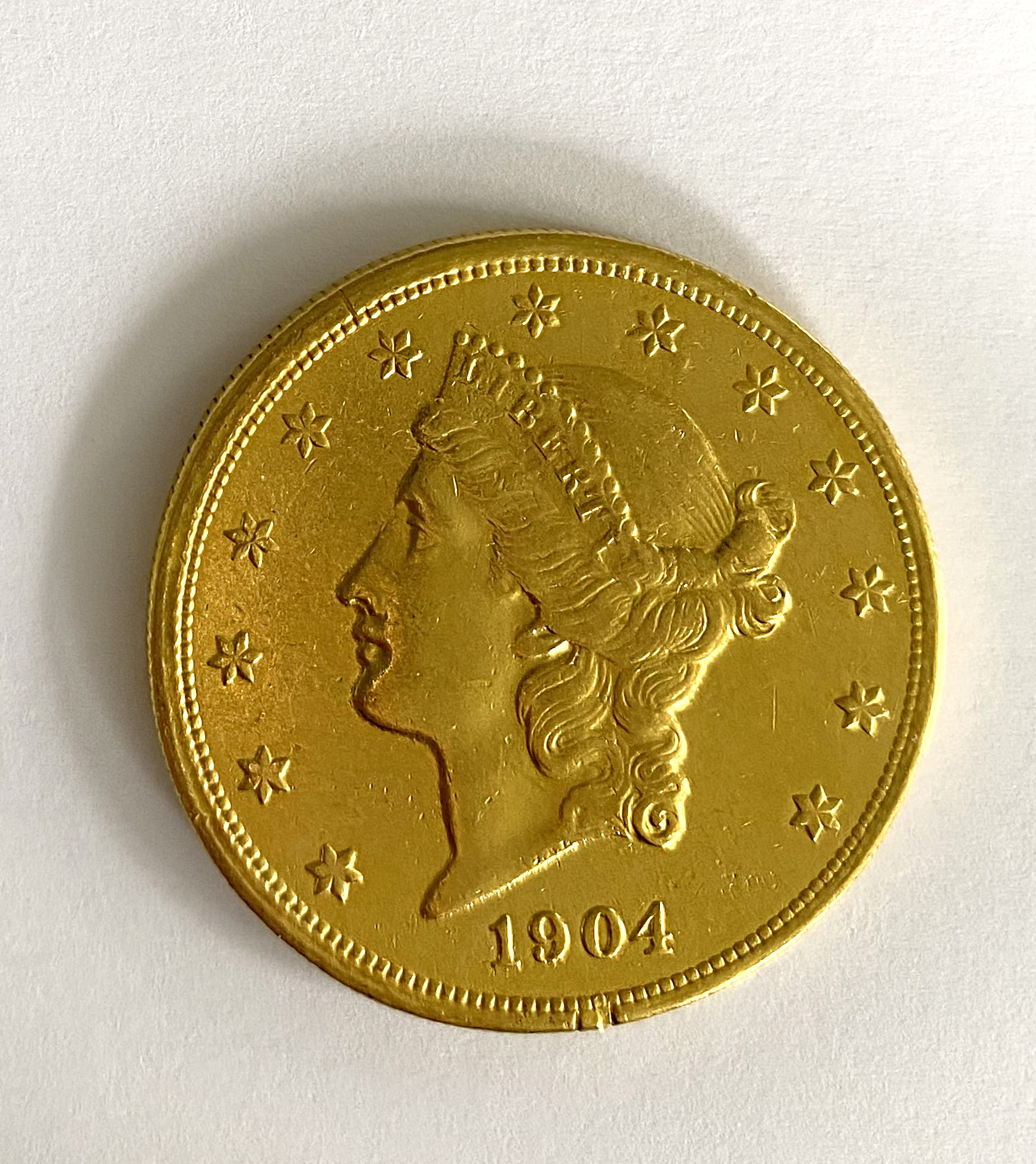 A United States of America $20 coin,