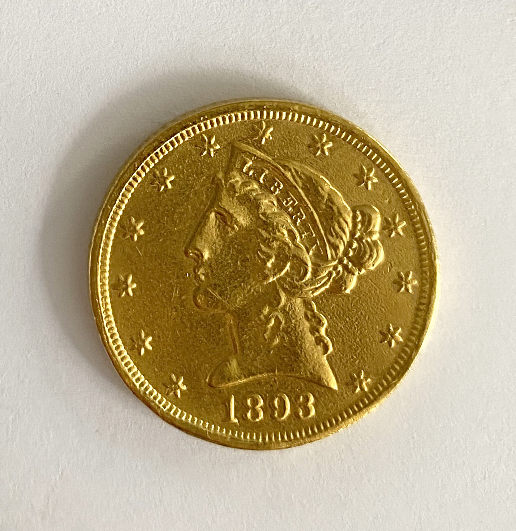 A United States of America $5 coin,