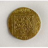 An Arabic gold coin