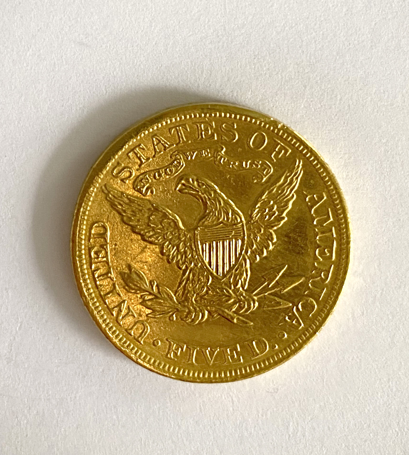 A United States of America $5 coin, - Image 2 of 2