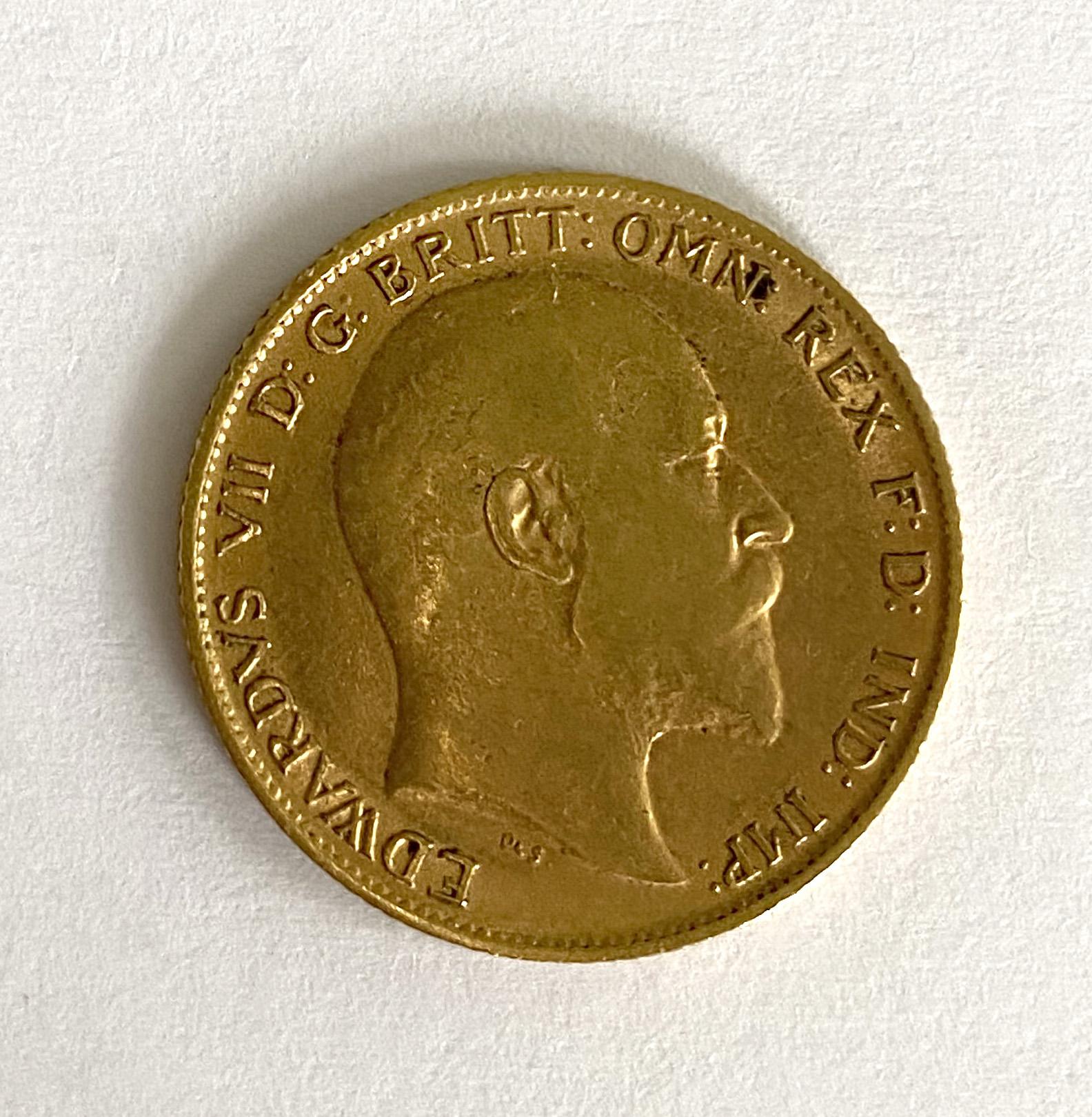 A 'Kings Head' half sovereign,
