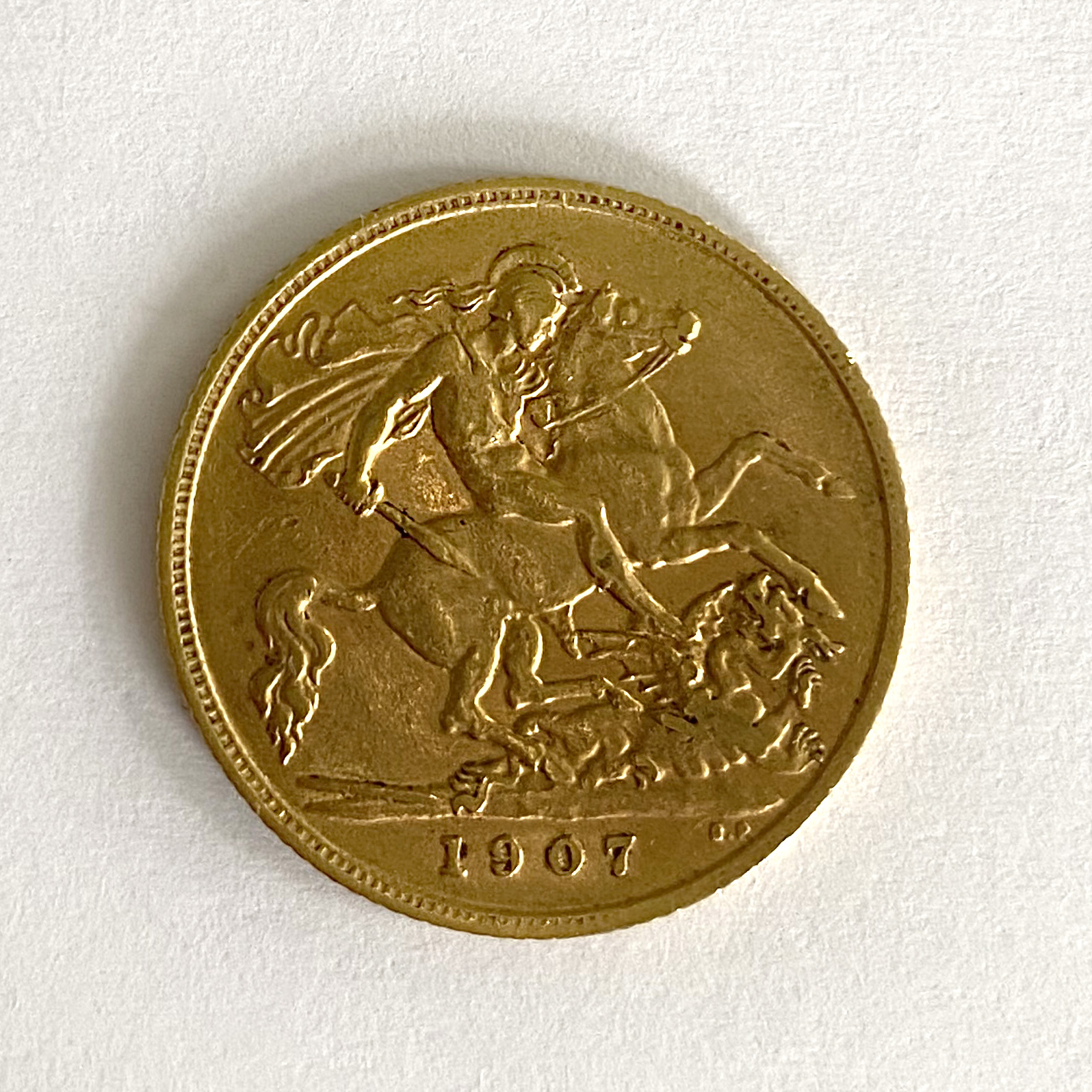 A 'Kings Head' half sovereign, - Image 2 of 2