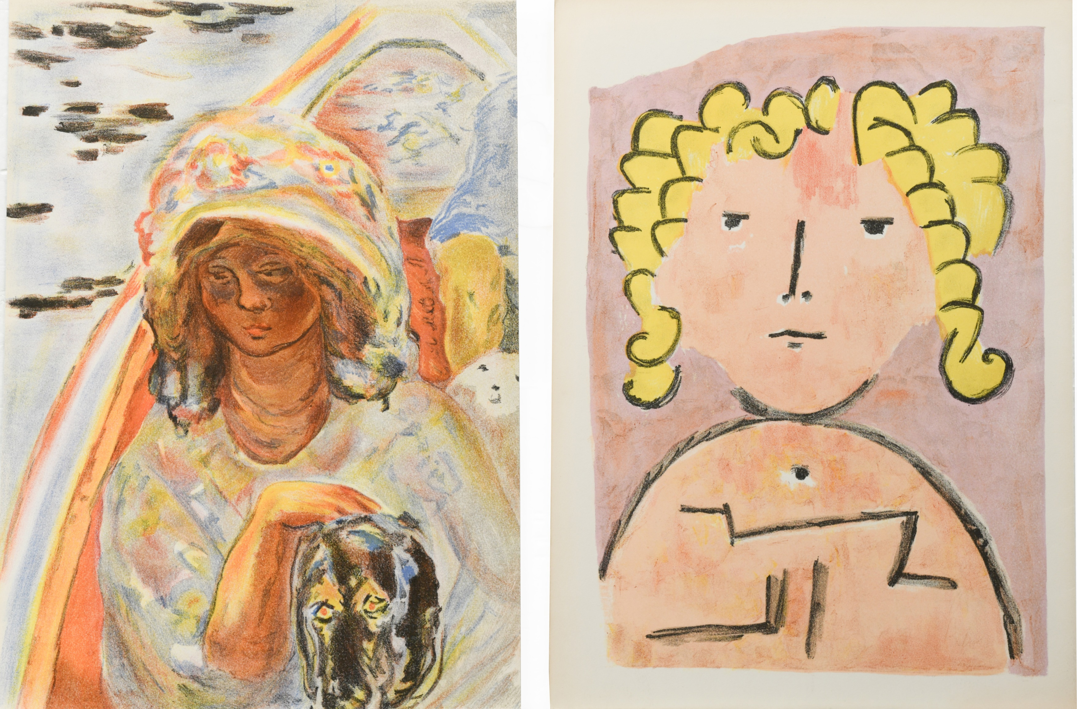 § A group of four unframed lithographs printed by Mourlot Paris, - Image 2 of 2