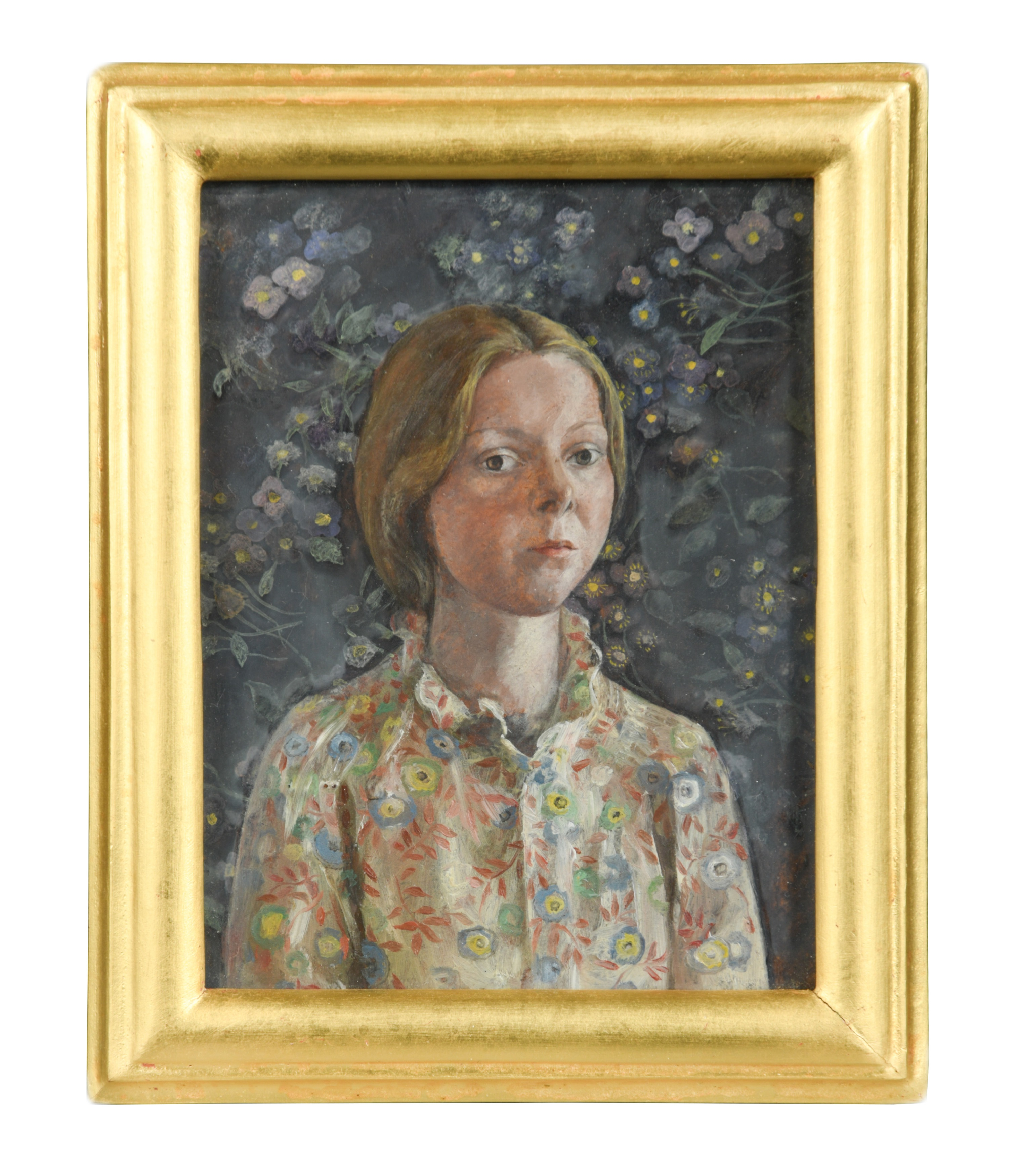 Two miniatures, to include: Mary E. Carter, Self Portrait, oil on board, 9 x 7.5cm; and G. London - Image 2 of 2