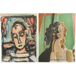 § A group of four unframed lithographs printed by Mourlot Paris,