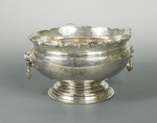 A George V silver punch bowl,