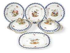 A Minton part dinner service, after a Meissen pattern, early 19th century,