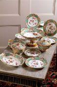 A fine Nantgarw London decorated dessert service, circa 1818-20,