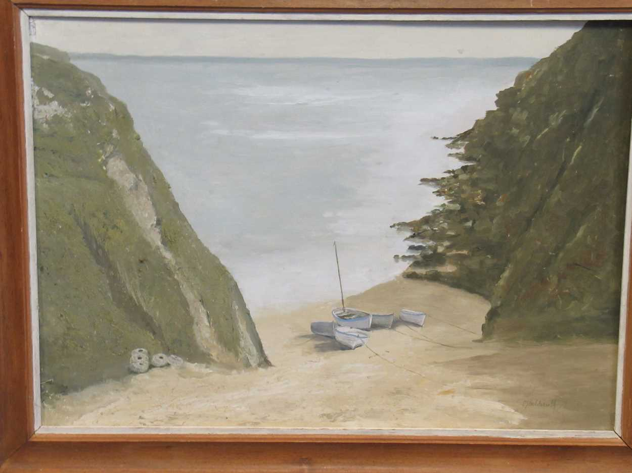 Maurice Joseph Holdsworth, Cornish cove, oil on board, signed lower right, 49 x 68cm (Frame measures