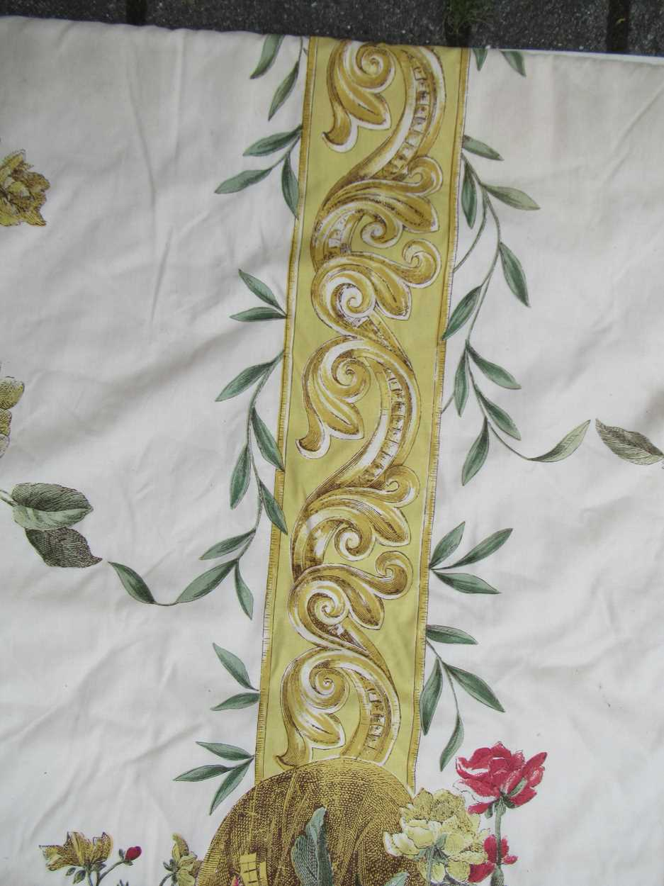 A pair of curtains, lined and interlined with tape heading, each measuring 325cm wide and 265cm - Image 2 of 3