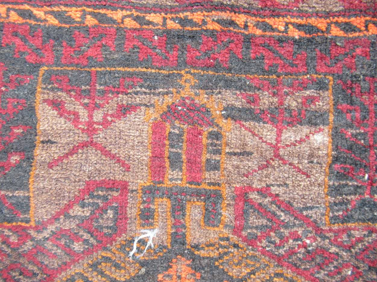 2 beluchi rugs 158 x 100cm (largest)Condition report: Condition very goodPile excellent on both - Image 2 of 5