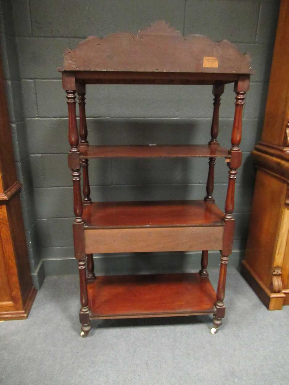 Victorian mahogany four tier whatnot, 155 x 82 x 42 cm - Image 6 of 7