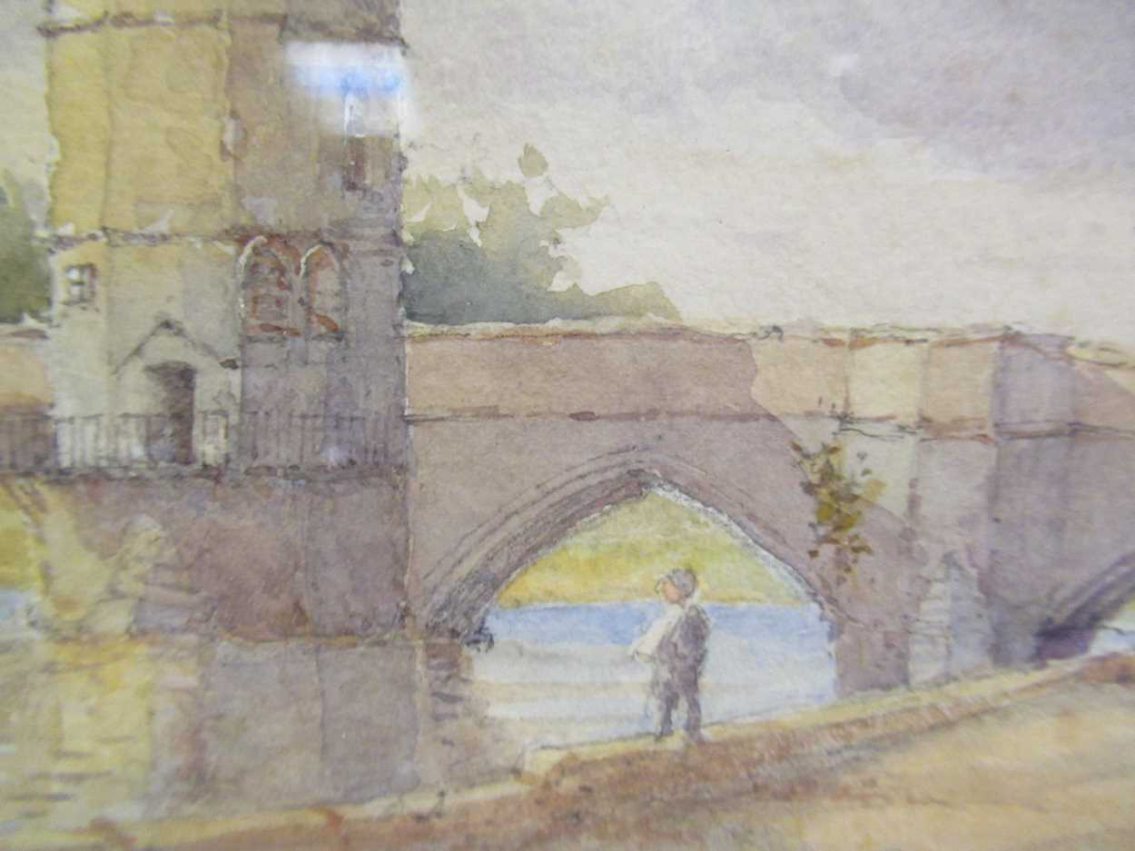 A watercolour of St Ives bridge by J A Temple, dated 1921, 21 x 31cm and another watercolour coastal - Image 5 of 10