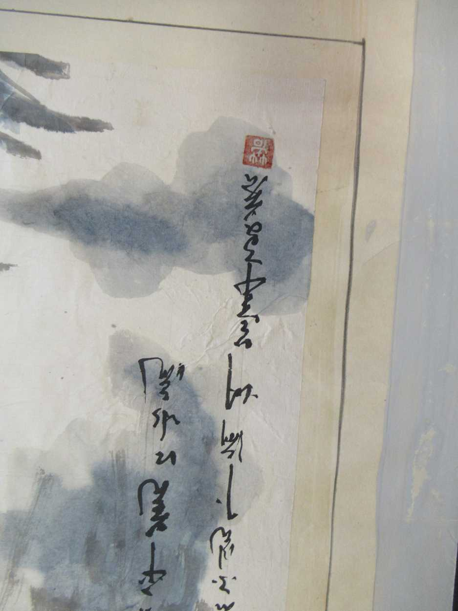 A group of three 20th century Chinese watercolour and gouaches, to include Northeast Treasure, 44. - Image 5 of 11