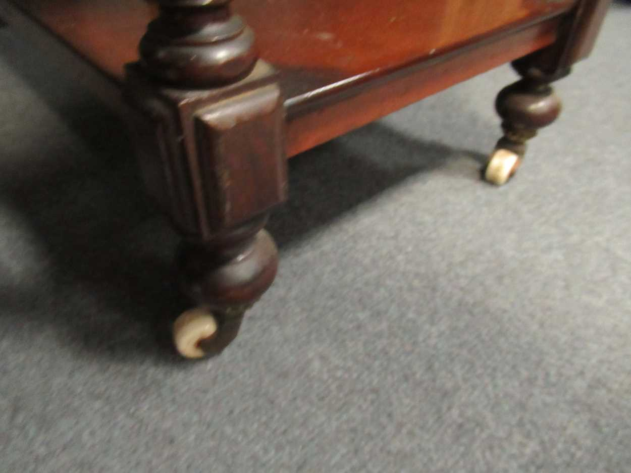Victorian mahogany four tier whatnot, 155 x 82 x 42 cm - Image 2 of 7