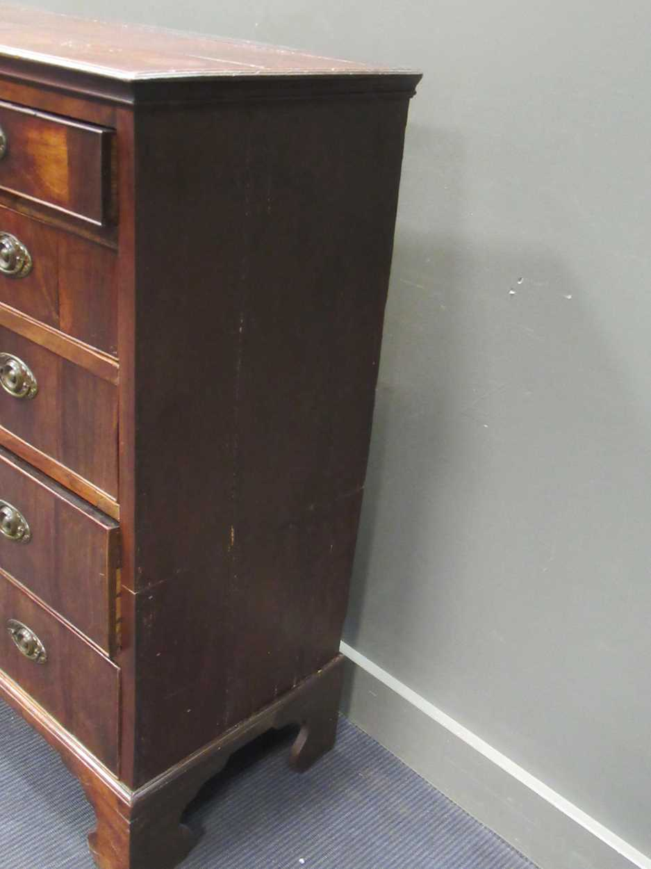 A 19th century mahogany chest of two short and four long graduated drawers, 121 x 111 x 49cm - Image 2 of 7
