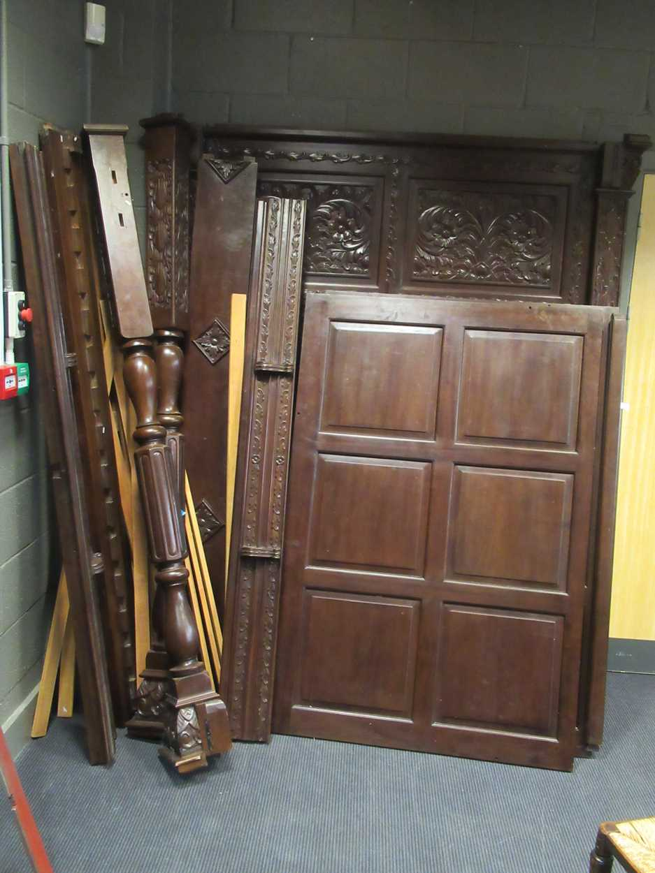 A 17th century style oak four poster bedCondition report: Dimensions approx:216cm high180cm