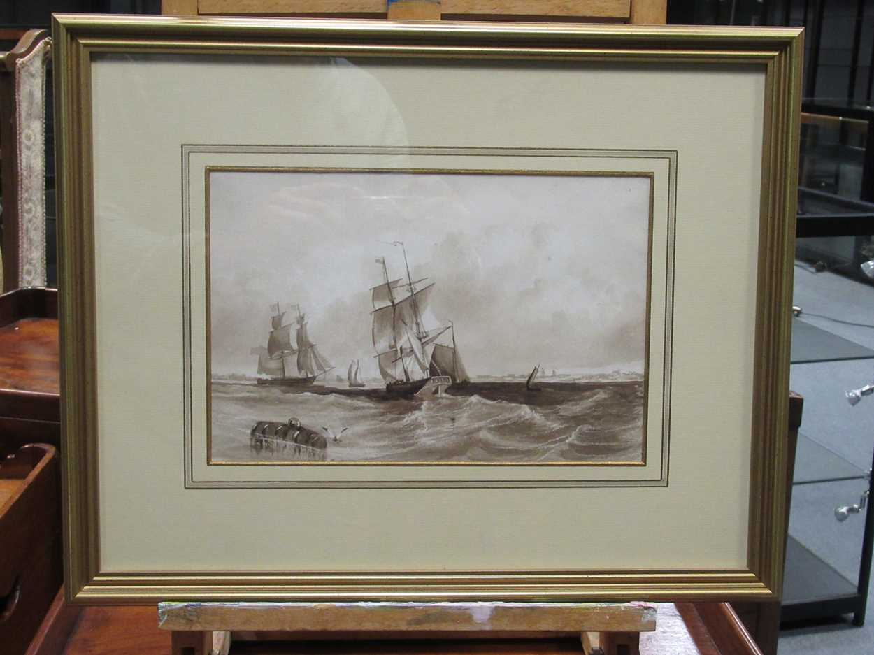 """Samuel H Phillips, Salvage at a shipwreck, signed lower left """"Samuel H Phillips 1906"""", - Image 5 of 8"""
