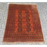 3 assorted Afghan rugs 225 x 156cm (largest)Condition report: No obvious wear or damage, but