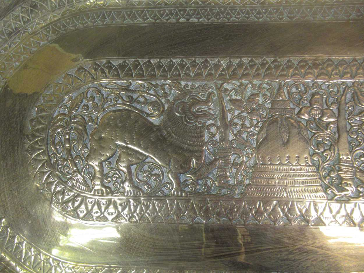 Indian brass tray, Poole vase, pair of twist candlesticks, vases, decanter etc - Image 14 of 14