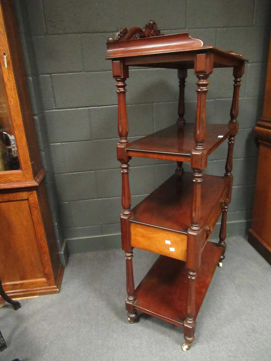 Victorian mahogany four tier whatnot, 155 x 82 x 42 cm - Image 7 of 7