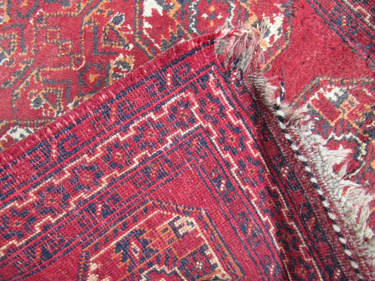 An Afghan rug, 132 x 83cm and a finely woven Baluchi rug, 128 x 87cm - Image 3 of 4