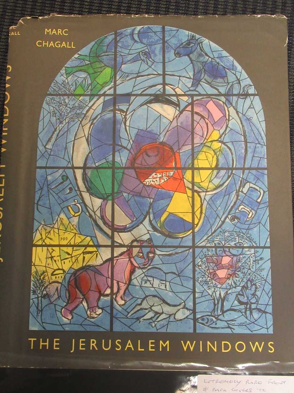 Two copies of the front and rear covers of The Jerusalem Window by Marc Chagall, 33.5 x 27.5cm; - Image 2 of 16