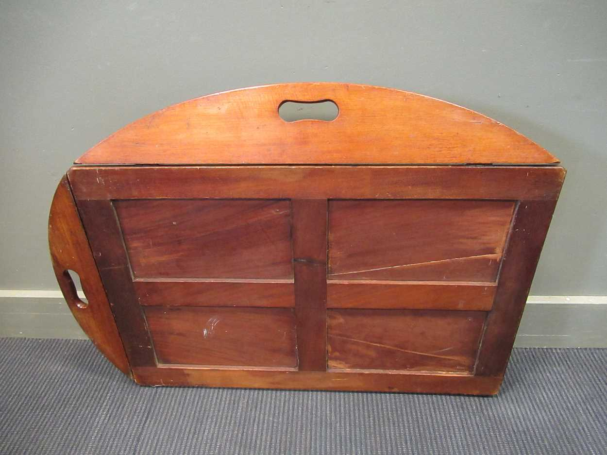 A mahogany butlers tray on folding stand (2) - Image 5 of 6