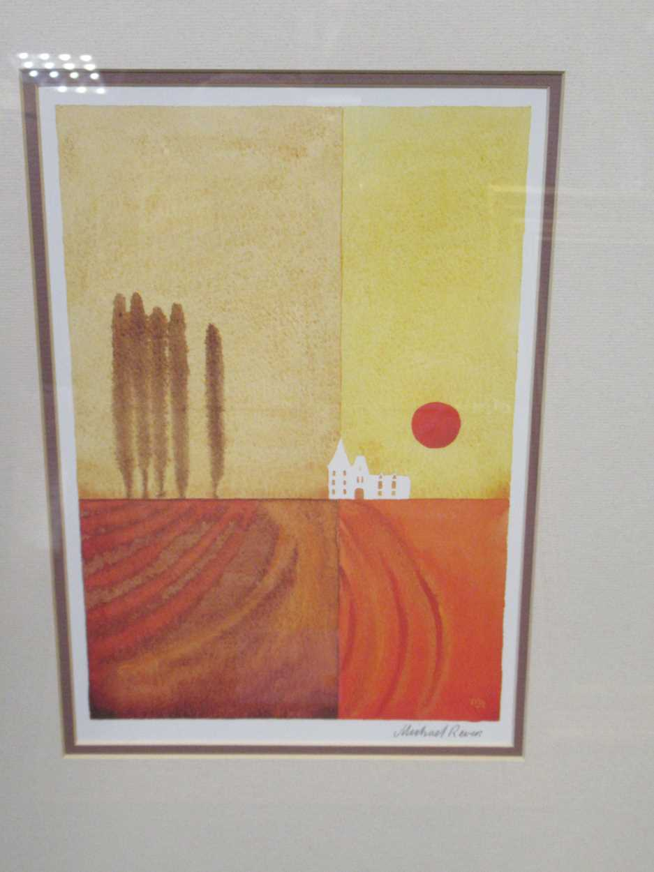 A group of four modern prints, to include: Peter Six, Velo, signed and numbered 67/500, 80 x 60cm; a - Image 8 of 9