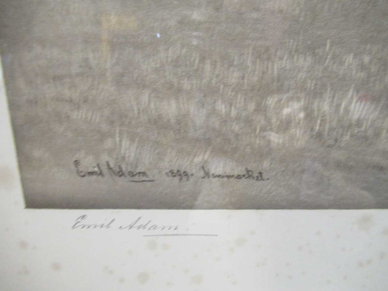 Emil Adam (Germann1843-1924) Manifesto, 1899, Newmarket engraving of the dual Grand National winner, - Image 4 of 5