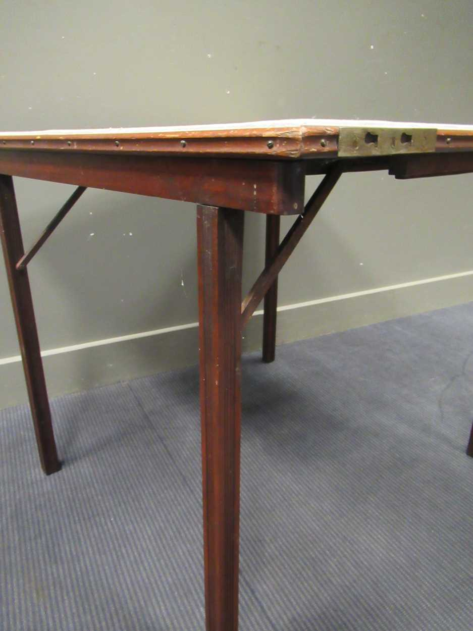 A Mudies squeezer card table with felt top and folding legs, top measures 86 x 86cm - Image 9 of 9
