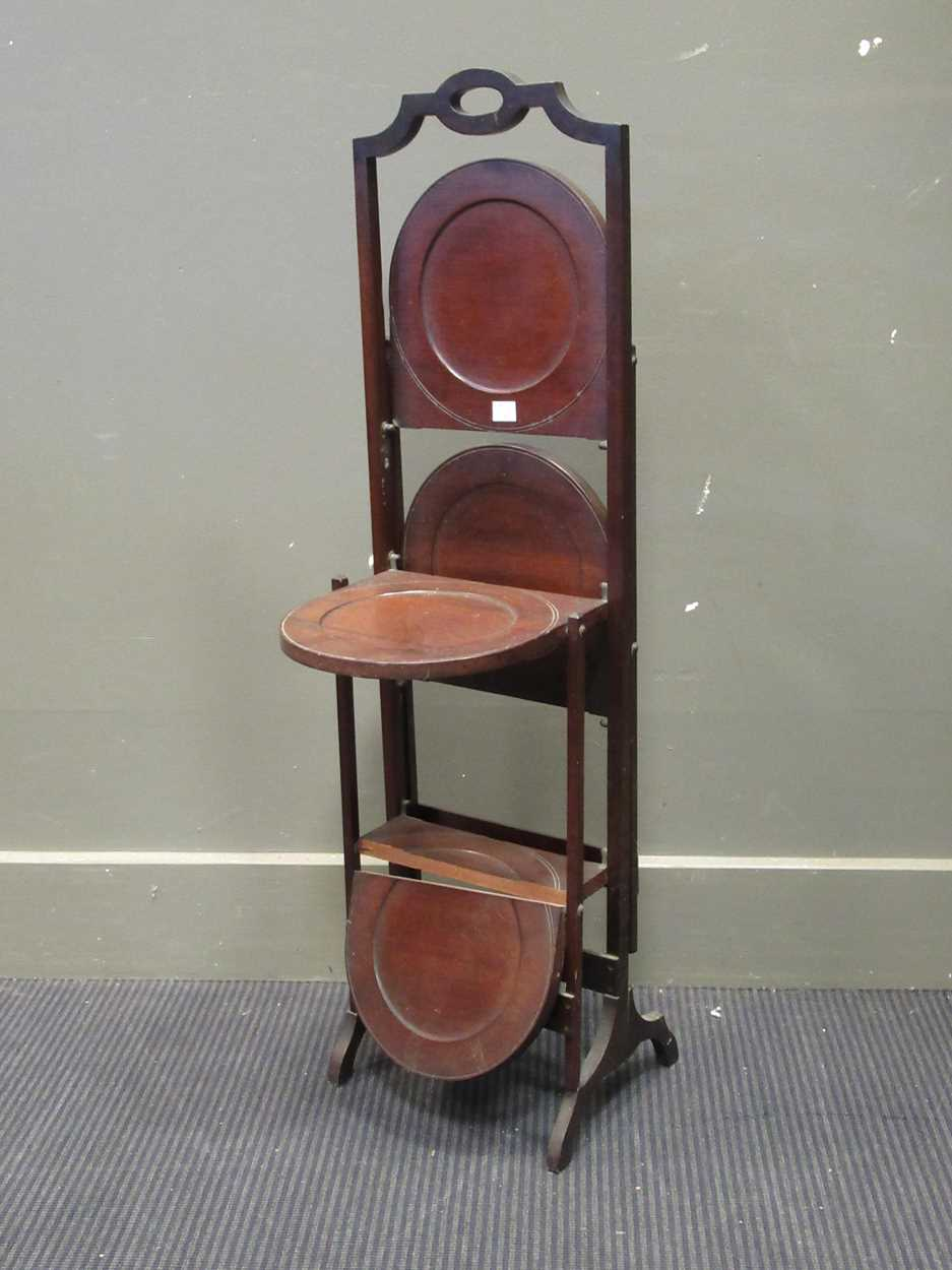 A gramophone cabinet with later electric turntable and an Edwardian cake stand (A/F) - Image 2 of 6