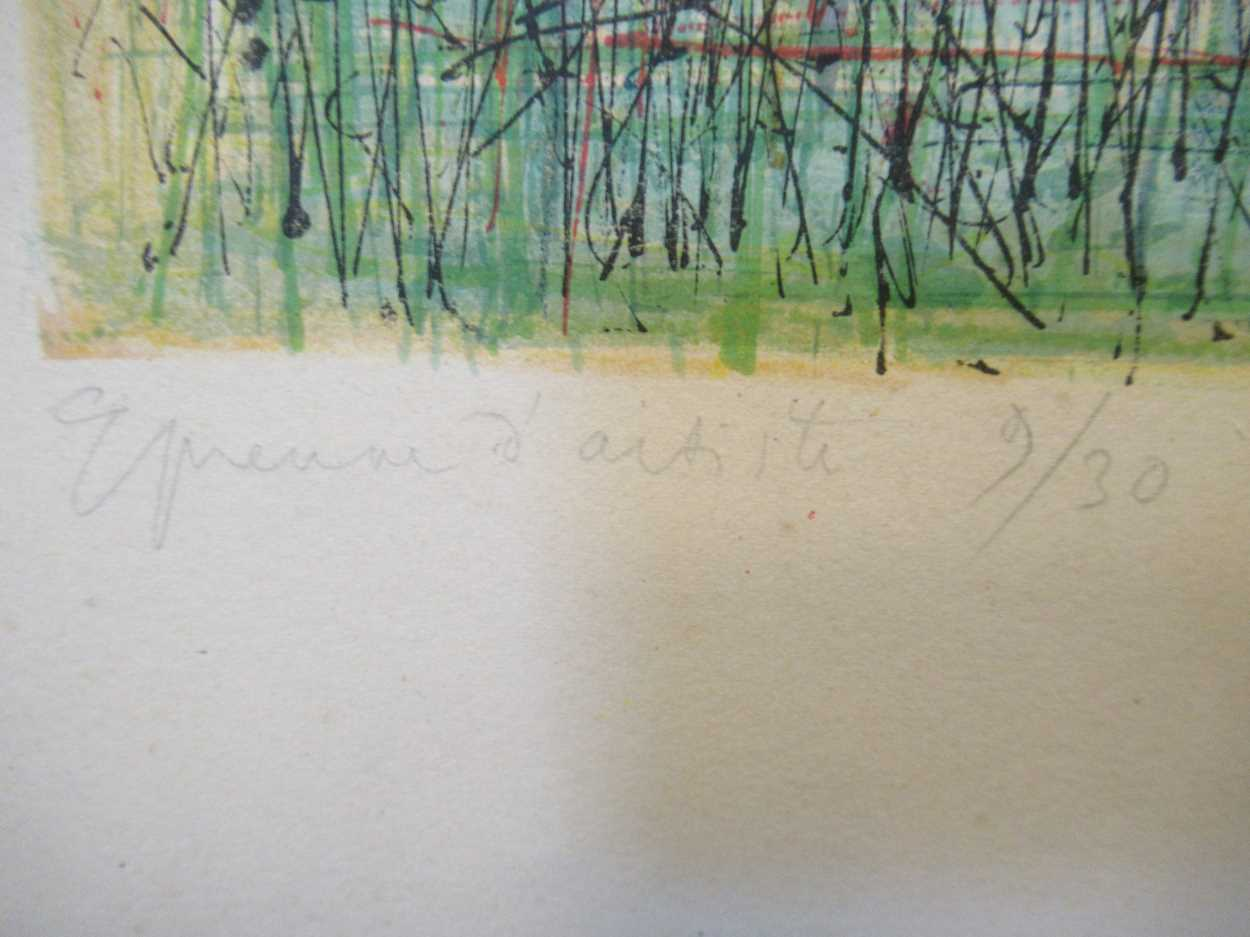 Two 20th century prints, to include: Jean Carzou (Armenian, 1907-2000), St-Paul-de-Vence, signed and - Image 10 of 10