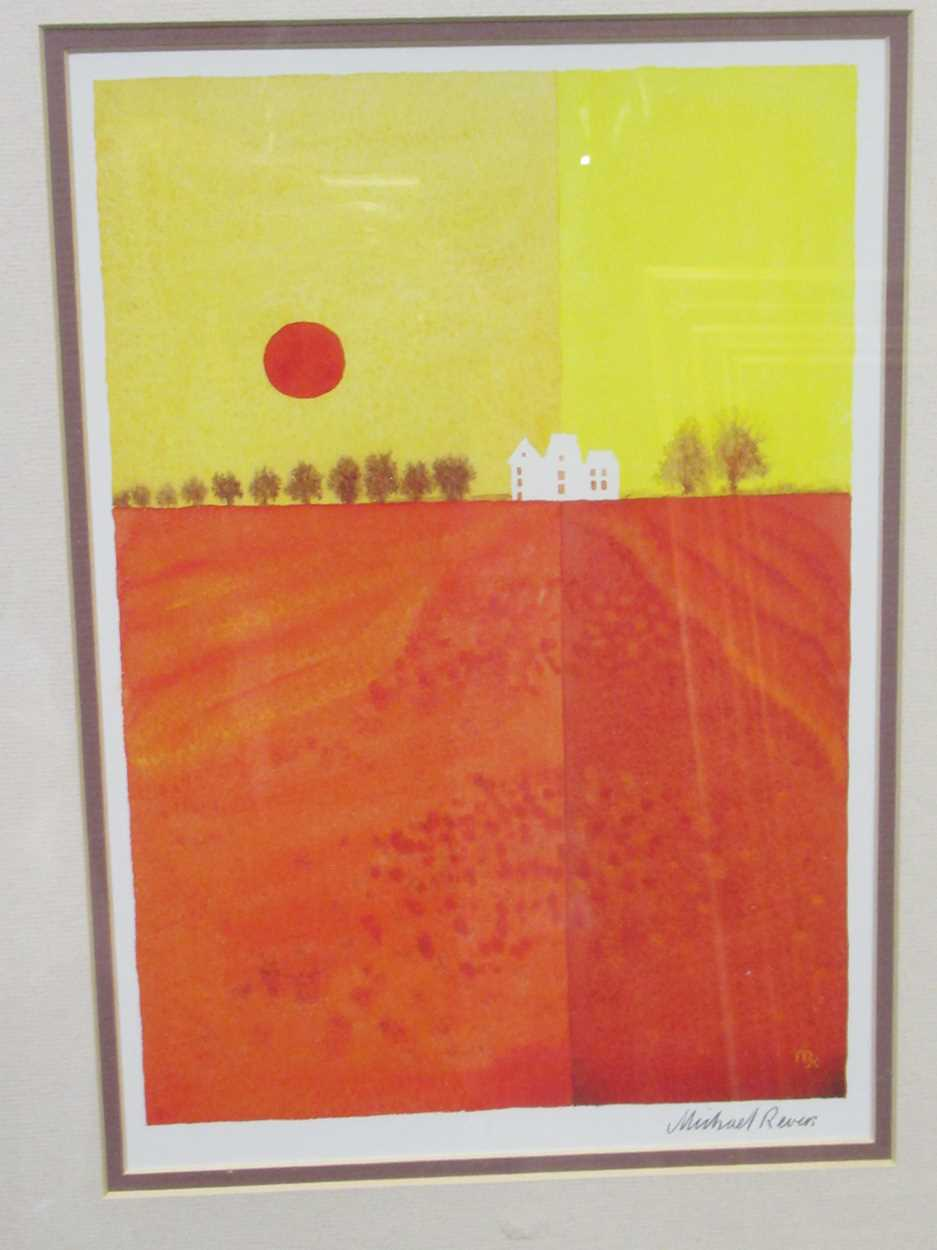 A group of four modern prints, to include: Peter Six, Velo, signed and numbered 67/500, 80 x 60cm; a