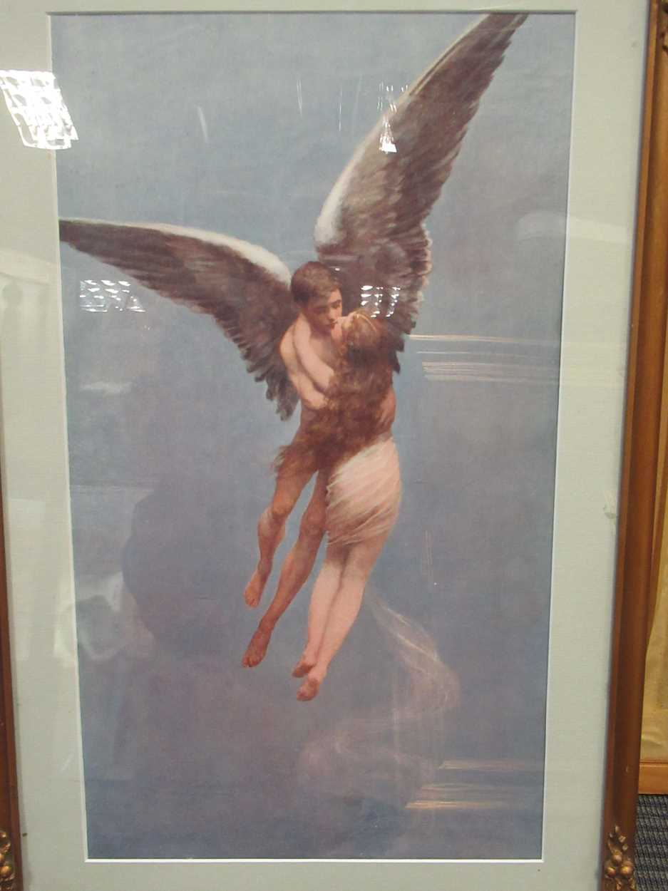 A group of five 19th and 20th century prints, to include: E J Harrington, Reunion, signed and