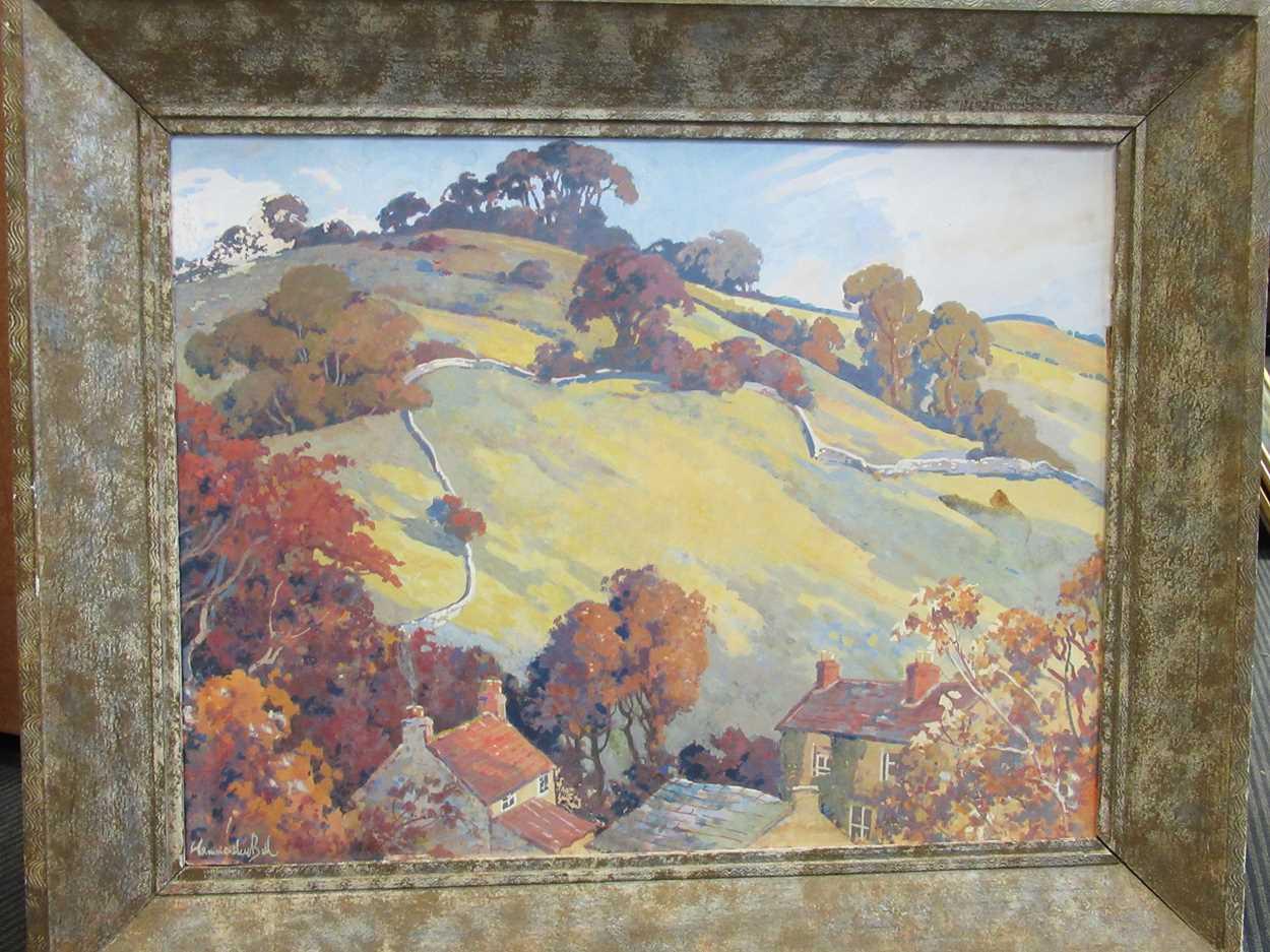 Fred Hammersley Ball (British 1879-1939), Near Ashover, Derbyshire, signed 'Hammersley Ball' ( - Image 2 of 4