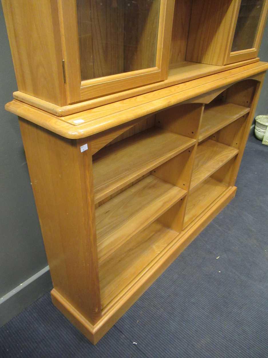 A modern pine dresser with adjustable shelves 227 x 151 x 33.5cm - Image 2 of 4
