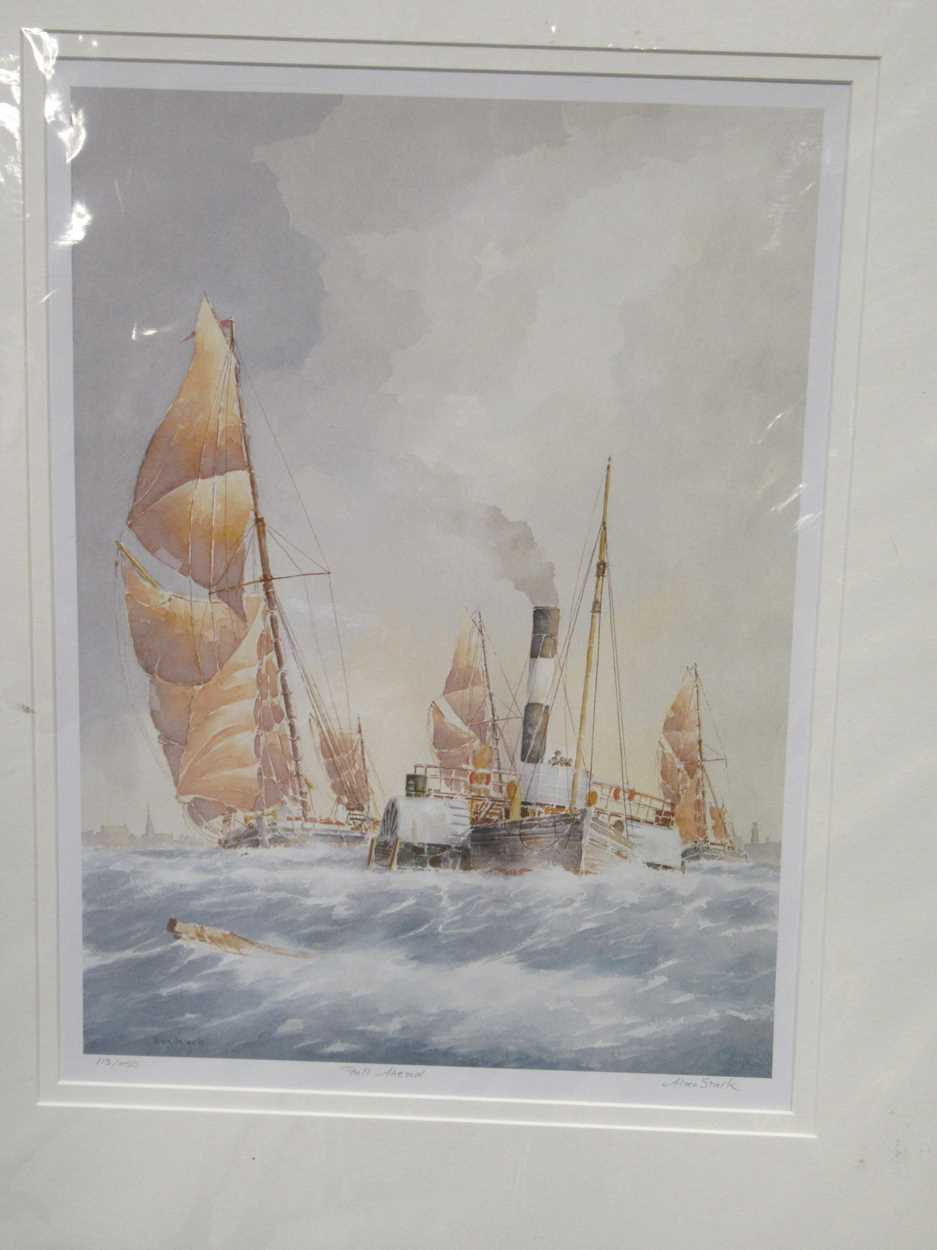 A group of five 19th and 20th century prints, to include: E J Harrington, Reunion, signed and - Image 7 of 9