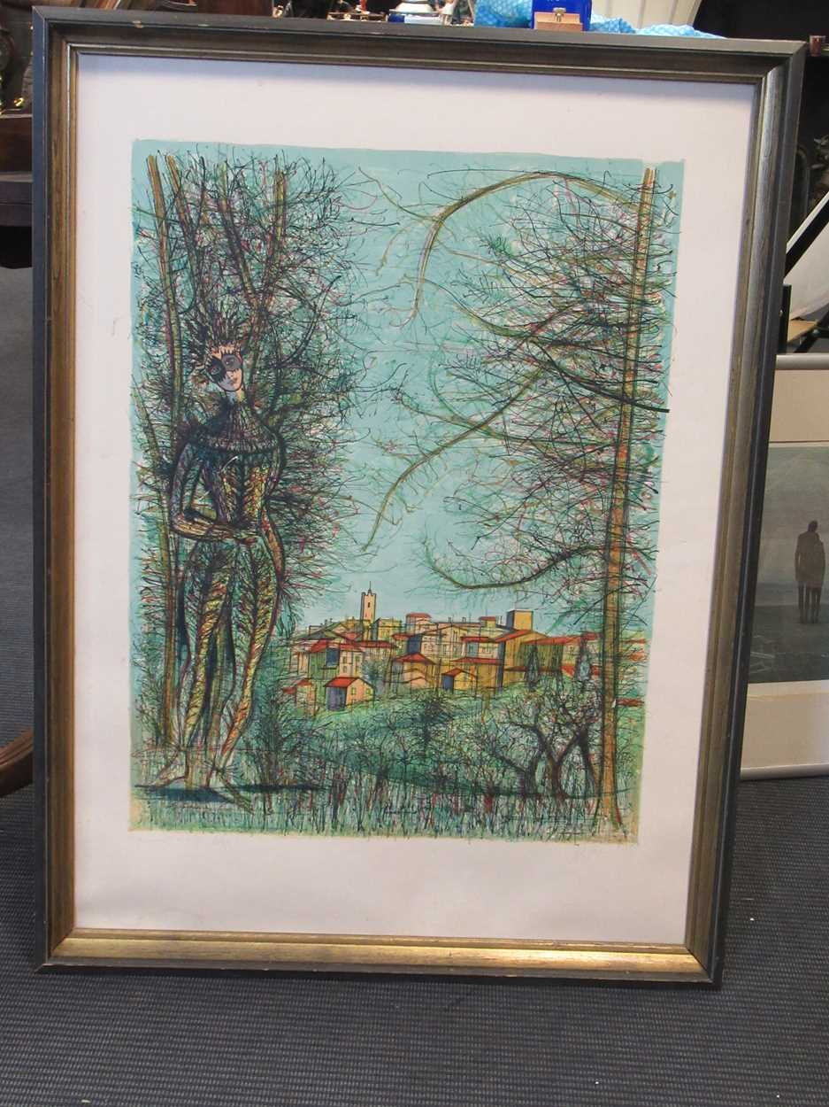 Two 20th century prints, to include: Jean Carzou (Armenian, 1907-2000), St-Paul-de-Vence, signed and - Image 9 of 10