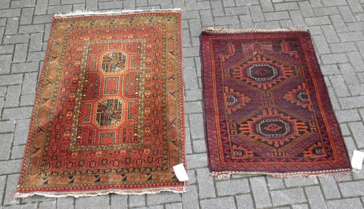 2 beluchi rugs 158 x 100cm (largest)Condition report: Condition very goodPile excellent on both