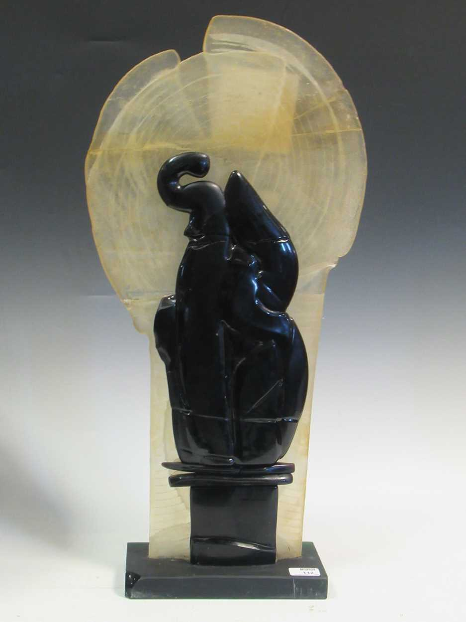 """Charles Bray (1922-2012), a studio glass sculpture 72cm high, signey """"BRAY"""" to base (repaired)"""