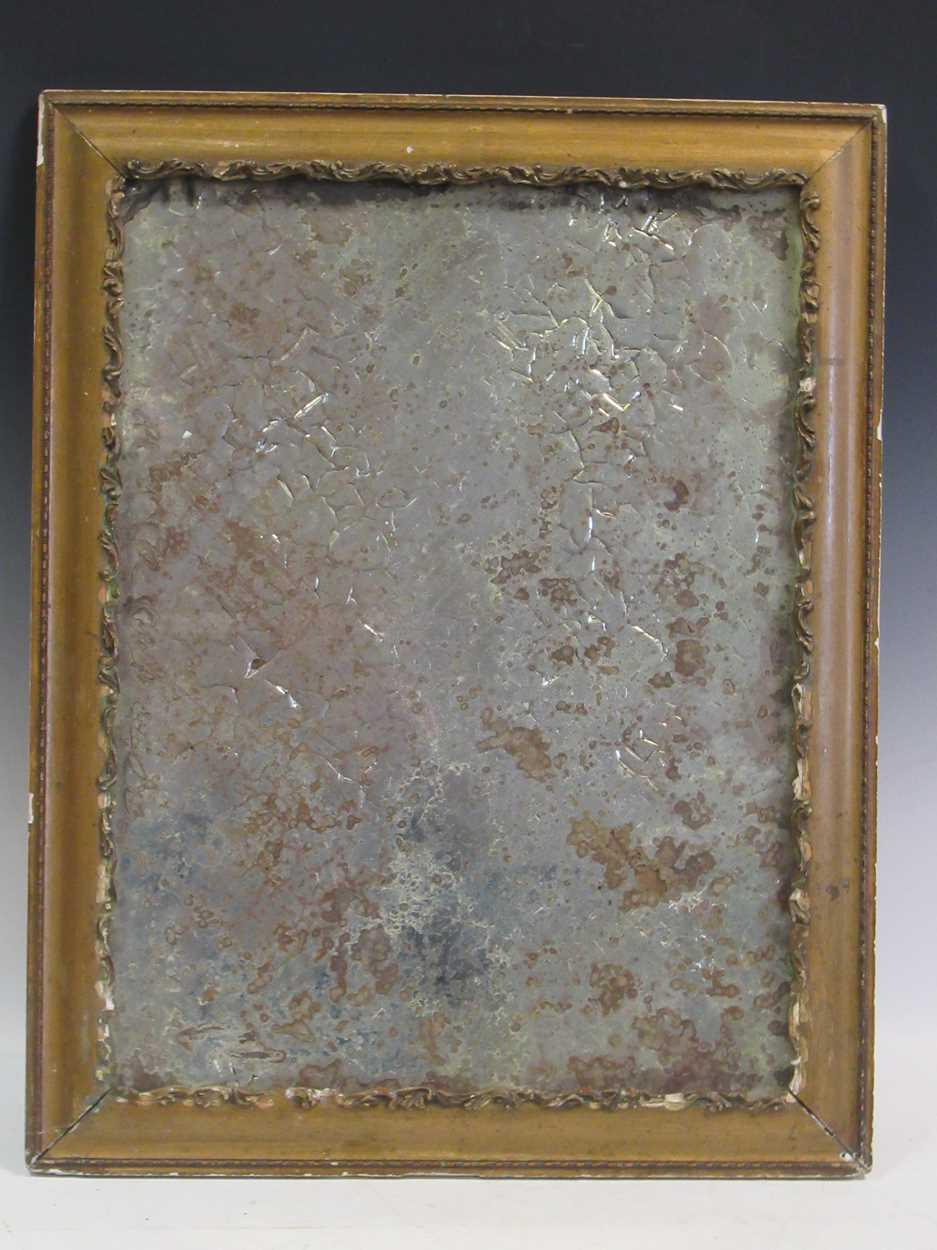 A distressed 19th century mirror, 62 x 48.5cm