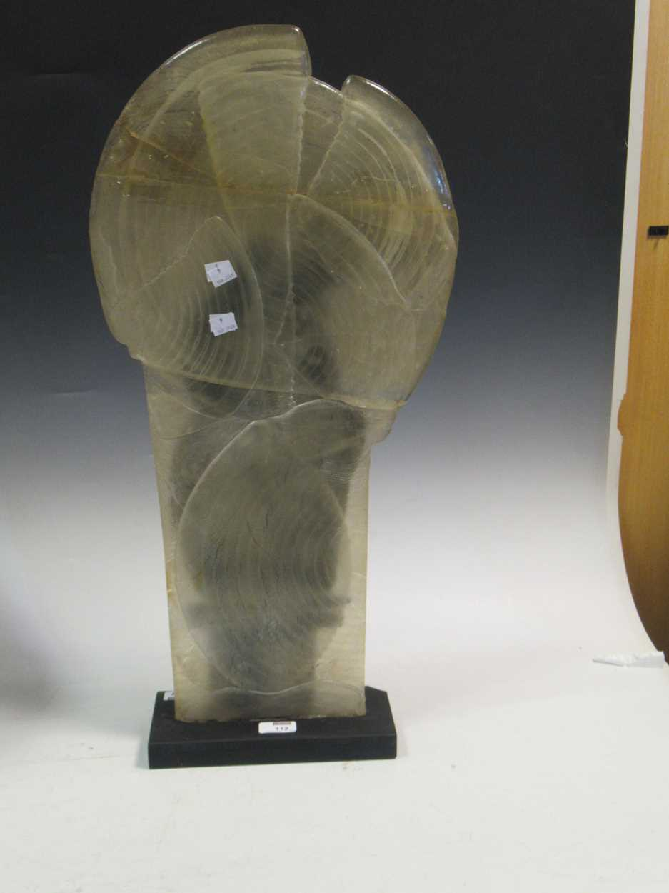 """Charles Bray (1922-2012), a studio glass sculpture 72cm high, signey """"BRAY"""" to base (repaired) - Image 4 of 6"""