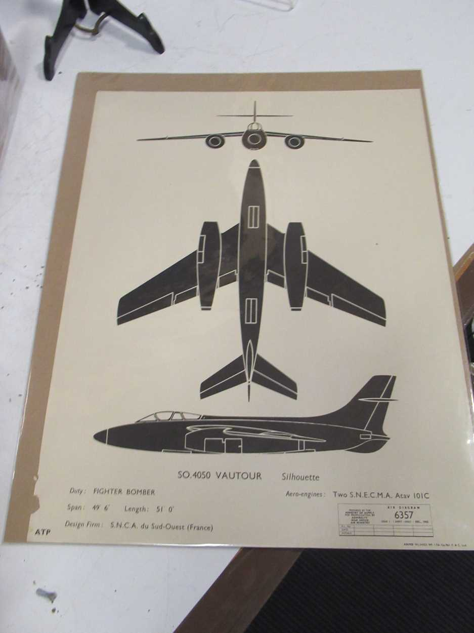 Four RAF silhoutte aeroplane identification prints, dated 1961, 1959 and 1955, 51 x 38cm; together - Image 2 of 8