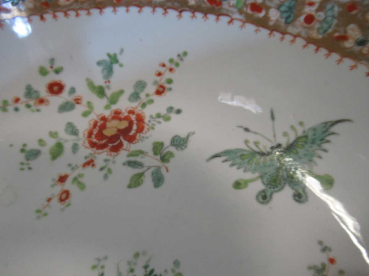 A large Sampson punch bowl, decorated in 18th century Chiense style, 36cm diameterCondition - Image 3 of 14