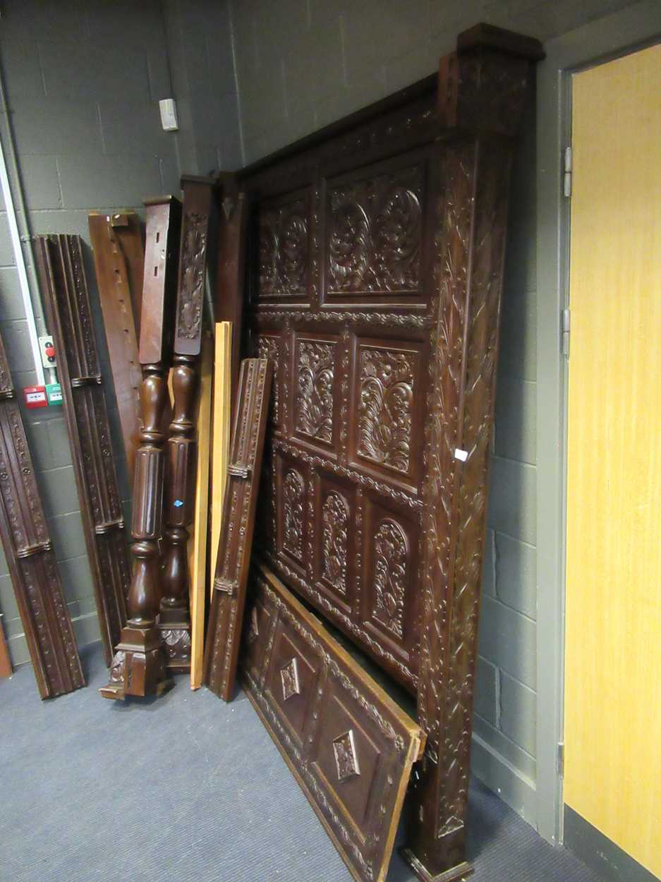 A 17th century style oak four poster bedCondition report: Dimensions approx:216cm high180cm - Image 2 of 4